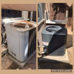 Fresno Heating and Cooling - AC Unit Replacement Before and After